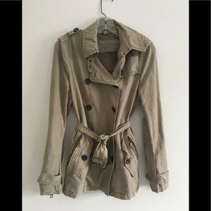 Burberry Britt short trench coat jacket, size 8